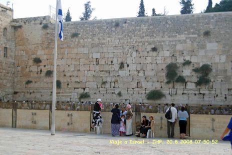 Vista general del Muro de las Lamentaciones en Jerusalen