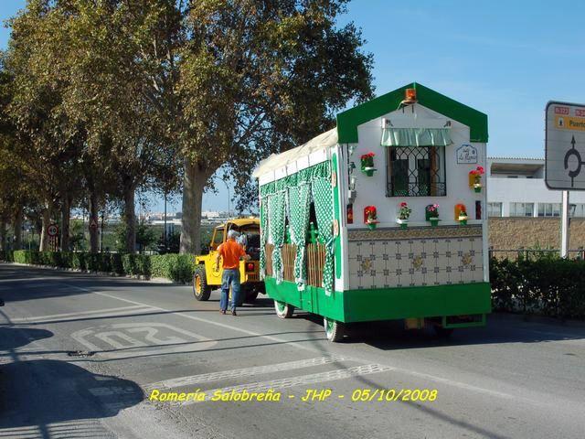 Carroza LOS DE SIEMPRE de Motril salida para la Romeria de Salobreña
