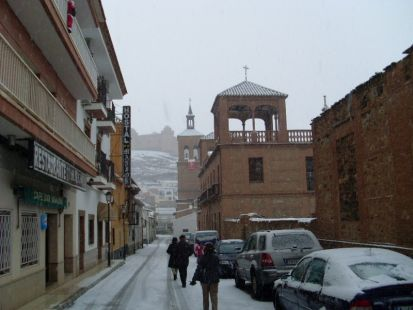 Nieve en La Calahorra