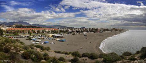 Playa de Salobreña (Granada), vista desde el Peñón
