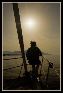 Amanecer desde el mar