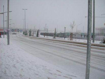 avenida en blanco