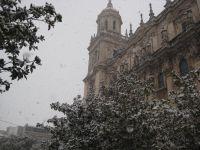 Nieve en la catedral