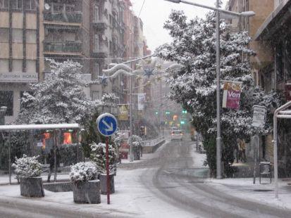 Centro de Jaén nevado