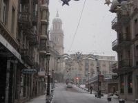 Nieve en el centro de Jaén