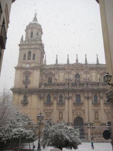 Bella estampa de la catedral jienense