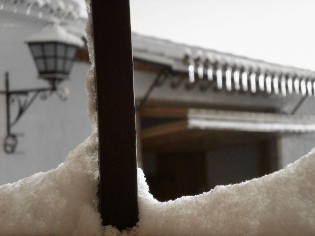 Tras la nevada ventana