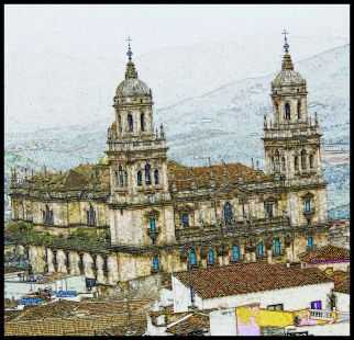 Catedral coloreada