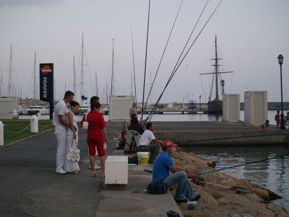 Pescadores en Almerimar