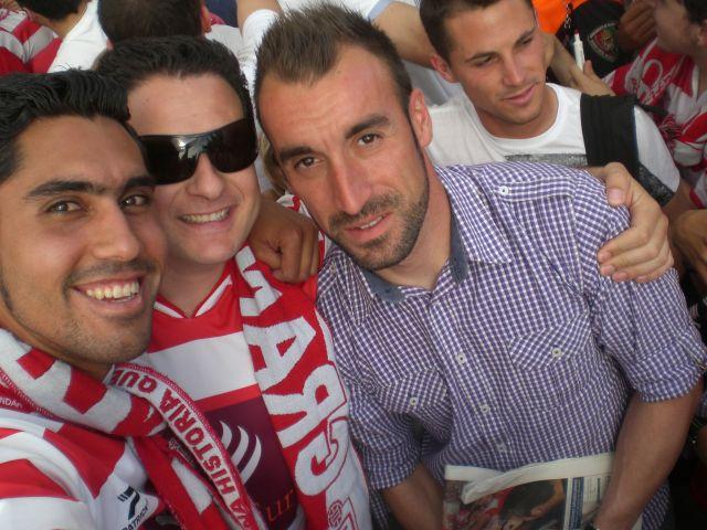 Recibimiento Granada CF, con Jose Juan
