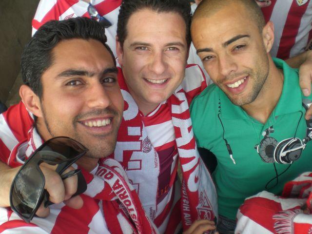 Recibimiento Granada CF, con Dani Benitez