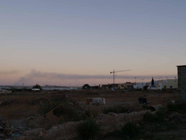 Fuego en la planta de residuos agricolas
