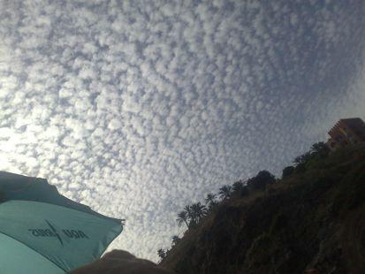 el cielo esta emborrigado
