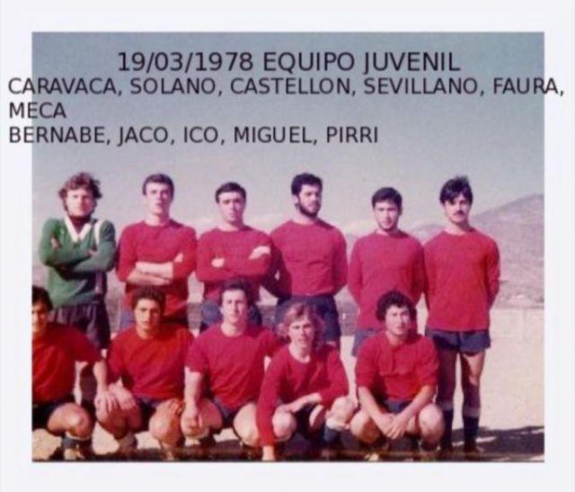 equipo juvenil 1978