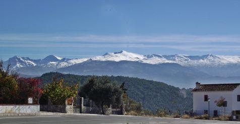 Sierra nevada desde Huetor Santillan