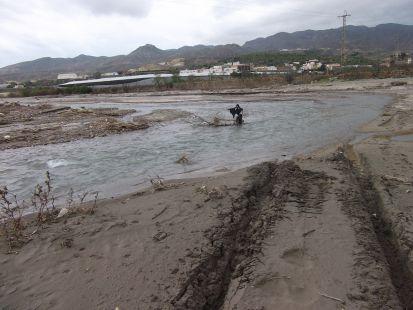 el rio  a su paso por pechina