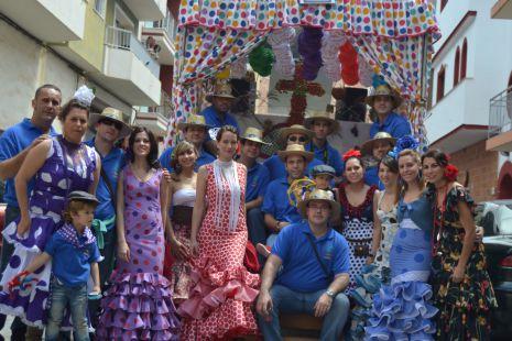 Carroza Itinerante LA CAÑA DE ESPAÑA el dia de la Cruz en Motril