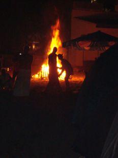 fuego purificador en San Juan,  Almuñecar