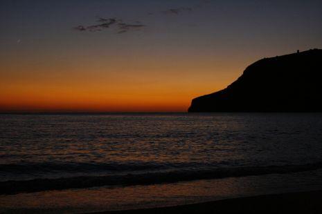 Otoño, puesta de sol