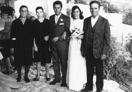 Soportújar, Boda de Manolo y Magdalena 1970
