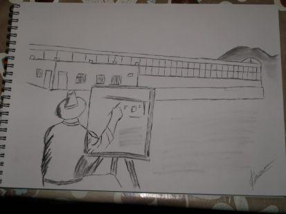 Yo dibujando en TBP