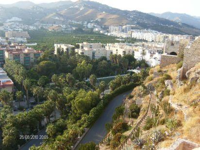 Parque del Mahuelo visto desde el Castillo de Almuñecar
