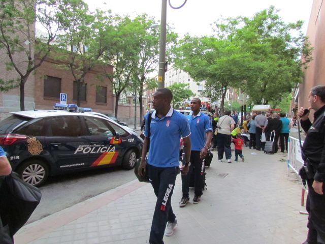 Llegada del Granada a Madrid