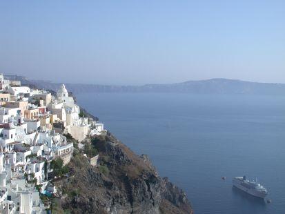 Santorini y mi barco