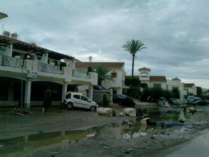 inundaciones en pueblo laguna