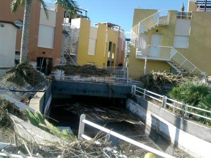 inundaciones de pueblo laguna