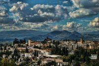 el albaicin desde la colina rojo