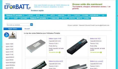 http://www.eforbatt.com  Batterie / Chargeur Dell Studio 1737 Ordinateur Portable, Adaptateur