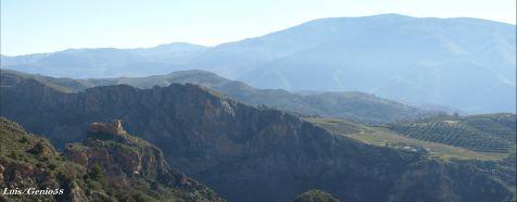 Panoramica del castillo de Lanjaron
