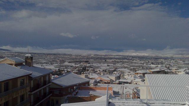 Blanco manto sobre Granada