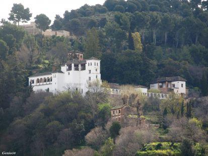 El Palacio del Generalife y la Silla del Moro