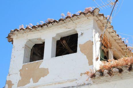 Torretas de casas antiguas en Gabia