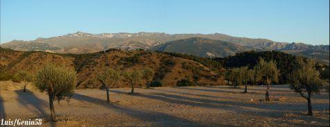 Atardeciendo en el Cerro del Aceituno