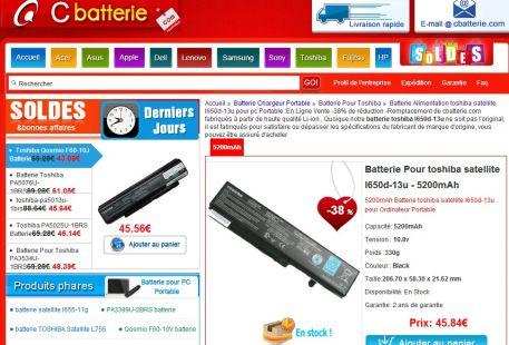 batterie toshiba l650d-13u
