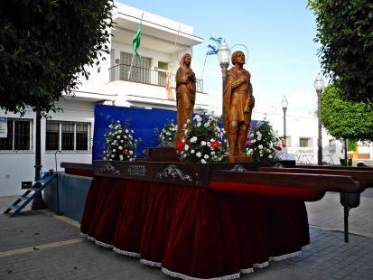 Procesión en Campohermoso