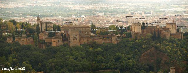 Las Torres de la Alhambra lado rio Darro