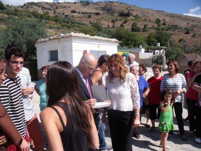 Soportúar, visita de la presidenta de la junta de andalucia