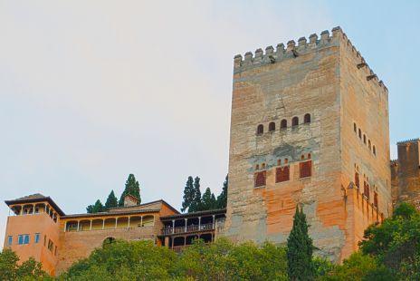Torres de la Alhambra desde Las Chirimías