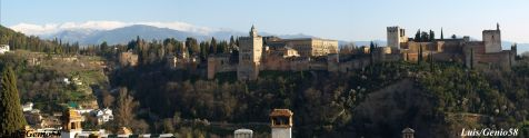 Panoramica de la Alhambra desde la Mezquita